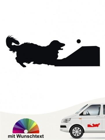 Flyball Autoaufkleber mit Wunschtext von anfalas.de
