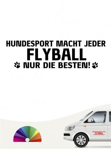 Hunde-Autoaufkleber Flyball nur die Besten von Anfalas.de