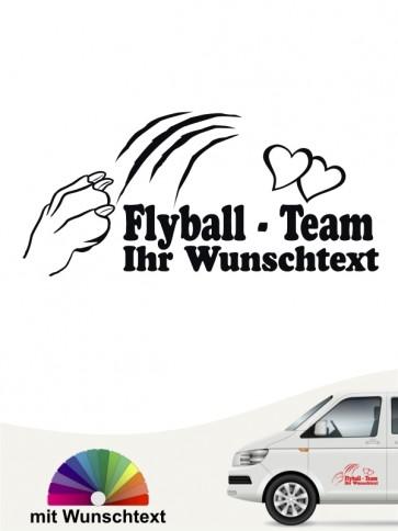 Flyball Team Aufkleber mit Wunschtext von anfalas.de
