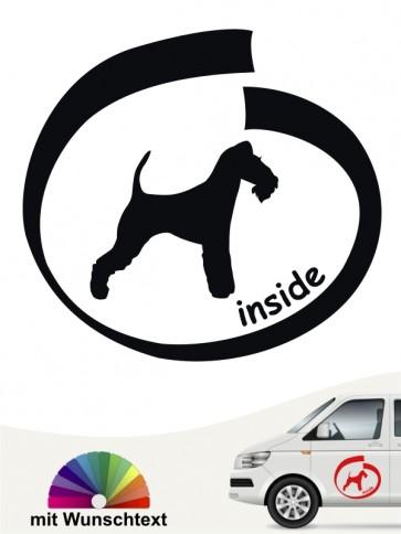 Fox Terrier Drahthaar inside Autoaufkleber mit Wunschname anfalas.de