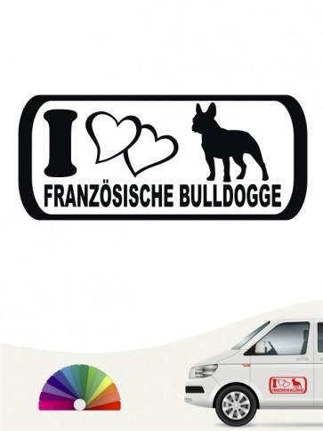 I Love Aufkleber Französische Bulldogge anfalas.de
