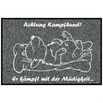 Fußmatte Hundemotiv Kampfhund Anfalas.de