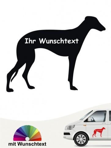 Galgo Silhouette Sticker mit Wunschname anfalas.de