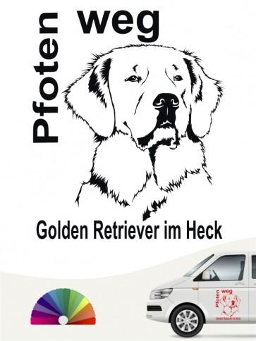 Pfoten weg Aufkleber Golden Retriever anfalas.de