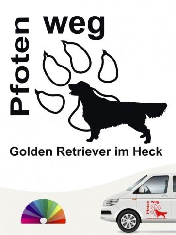 Pfoten weg Sticker Golden Retriever anfalas.de