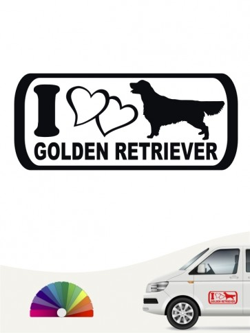 I Love Golden Retriever Aufkleber anfalas.de