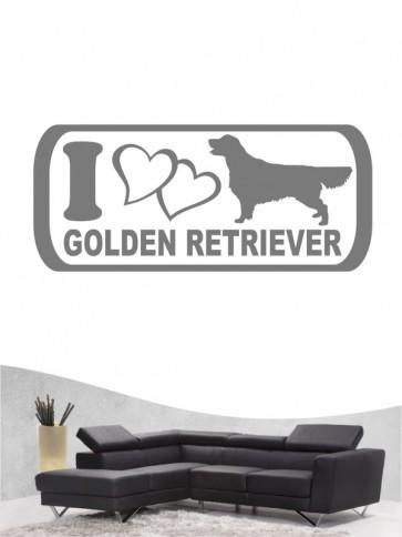 Golden Retriever 6 - Wandtattoo