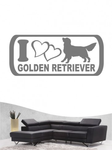 Golden Retriever 6a - Wandtattoo