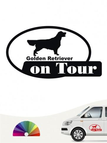 On Tour Heckscheibenaufkleber Golden Retriever anfalas.de