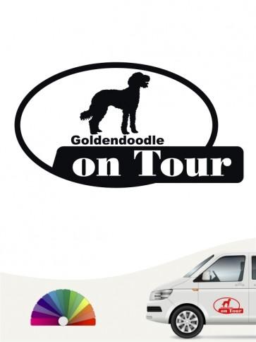 On Tour Autoaufkleber Goldendoodle anfalas.de