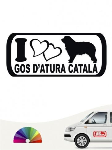 Hunde-Autoaufkleber Gos d'Atura Català 6 von Anfalas.de