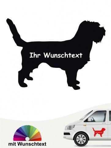 Grand Basset Griffon Sticker mit Wunschname anfalas.de