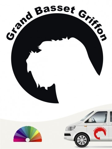 Grand Basset Griffon Aufkleber von anfalas.de