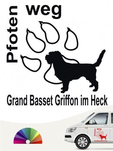 Pfoten weg Aufkleber Grand Basset Griffon anfalas.de