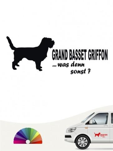 Grand Basset Griffon was denn sonst Heckscheibenaufkleber anfalas.de