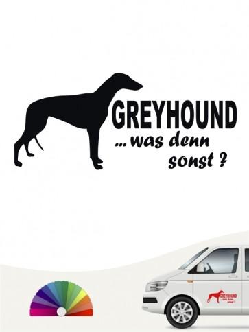 Was denn sonst Sticker Greyhound Silhouette anfalas.de