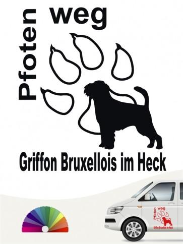 Griffon Bruxellois Pfoten weg Hundeaufkleber von anfalas.de
