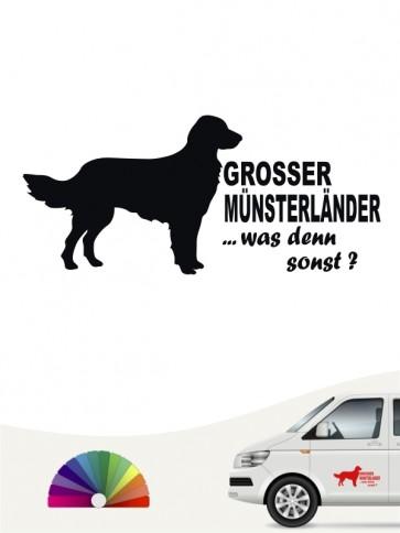 Großer Münsterländer was denn sonst Sticker von anfalas.de