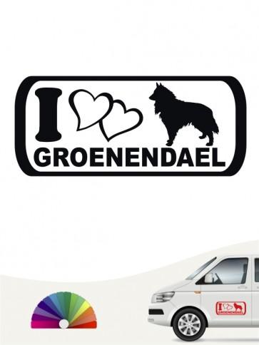Groenendael I Love Heckscheibenaufkleber von anfalas.de