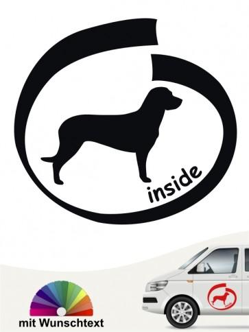 Hannoverscher Schweißhund inside Autosticker mit Wunschname von anfalas.de