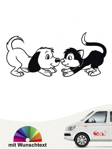 Hunde-Autoaufkleber Hund & Katze 3a von Anfalas.de