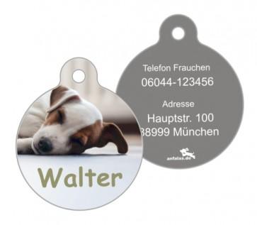 Anfalas.de | Hundemarke vom eigenen Foto in rund