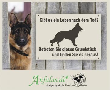 Hundeschild Schäferhund by anfalas.de
