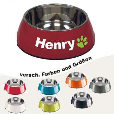 Hundenapf mit Namen selbst gestalten von Anfalas.de