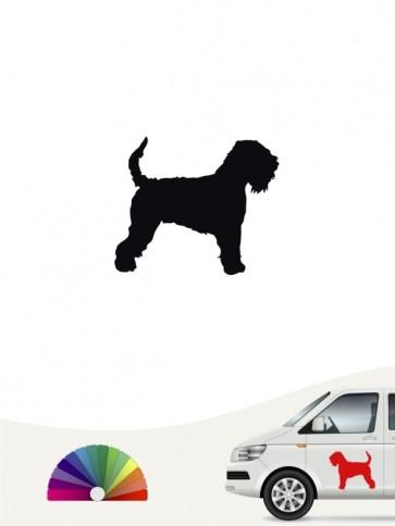 Hunde-Autoaufkleber Irish Soft Coated Wheaten Terrier 1 Mini von Anfalas.de