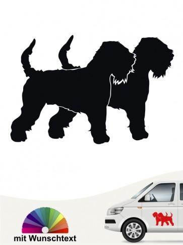 Doppel Silhouette Irish Soft C. W. Terrier Hundeaufkleber von anfalas.de