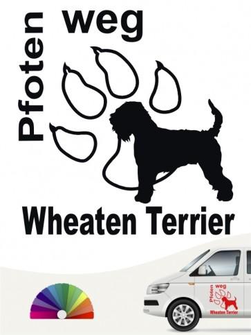 Wheaten Terrier Pfoten weg Aufkleber von anfalas.de
