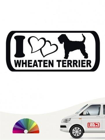 I Love Irish Soft C. W. Terrier Sticker von anfalas.de