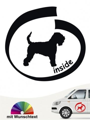 Irish Soft C. W. Terrier inside Hundeaufkleber mit Wunschtext von anfalas.de