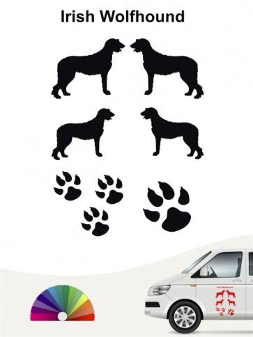 Hunde-Autoaufkleber Irish Wolfhound 12 von Anfalas.de
