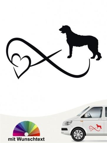 Irish Wolfhound Autoaufkleber von anfalas.de