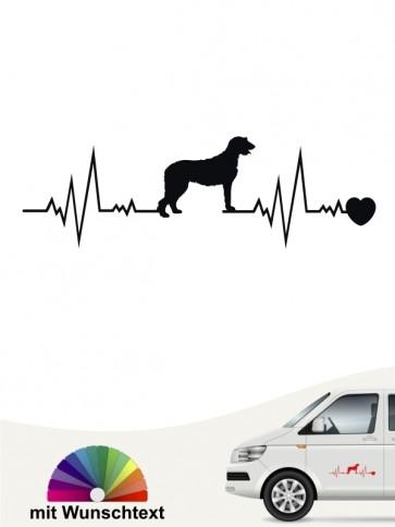 Irish Wolfhound Hundeaufkleber von anfalas.de