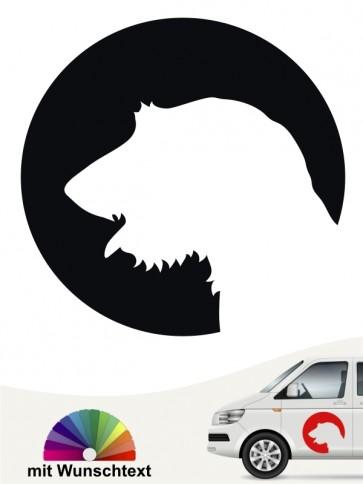 Irish Wolfhound Heckscheibensticker von anfalas.de