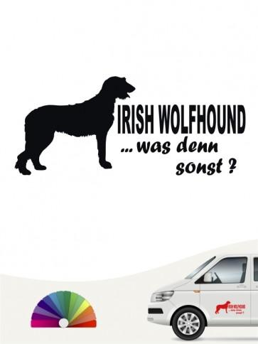 Irish Wolfhound was denn sonst Sticker von anfalas.de