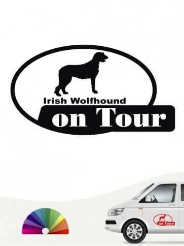 Hundeaufkleber Irish Wolfhound on Tour von anfalas.de