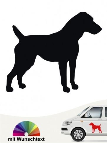 Jack Russell Terrier Heckscheibenaufkleber mit Wunschtext  von anfalas.de