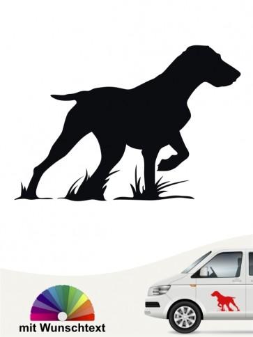 Jagdhund Autosticker mit Wunschtext von anfalas.de