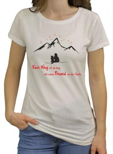 """Bio-Shirt """"Kein Weg"""" für Damen"""