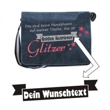 """Canvas Umhängetasche """"Keine Hundehaare"""" von anfalas.de"""