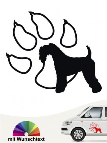 Kerry Blue Terrier Autoaufkleber mit Wunschtext von anfalas.de
