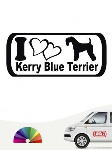 I Love Kerry Blue Terrier Hundeaufkleber von anfalas.de