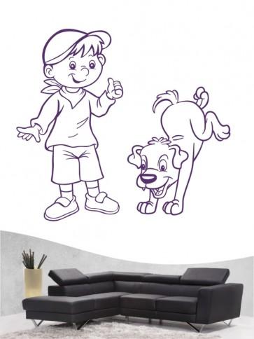 Kind & Hund 29 - Wandtattoo