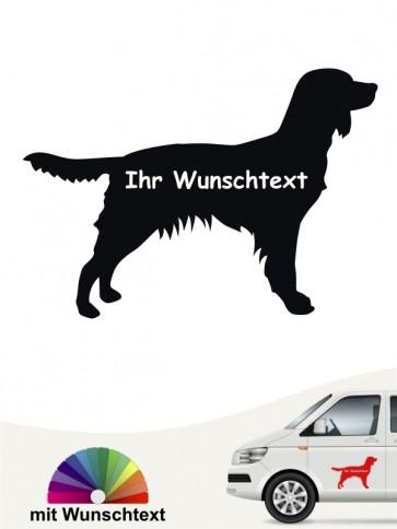 Kleiner Münsterländer Autoaufkleber mit Wunschname von anfalas.de
