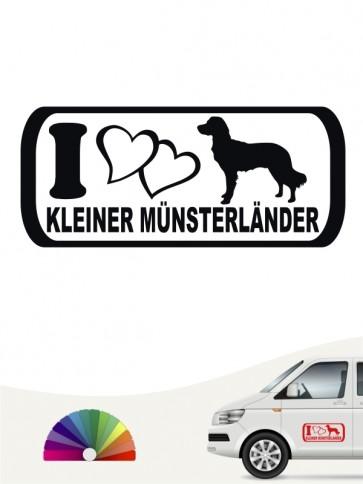 I Love Kleiner Münsterländer Autoaufkleber von anfalas.de