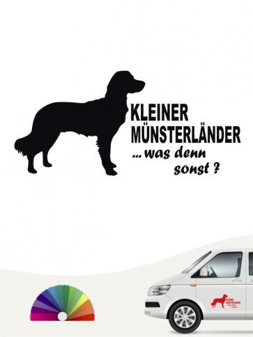 Kleiner Münsterländer was denn sonst Aufkleber von anfalas.de