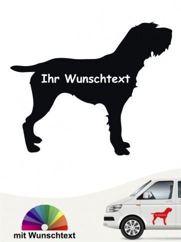 Korthals Griffon Autoaufkleber mit Wunschtext von anfalas.de